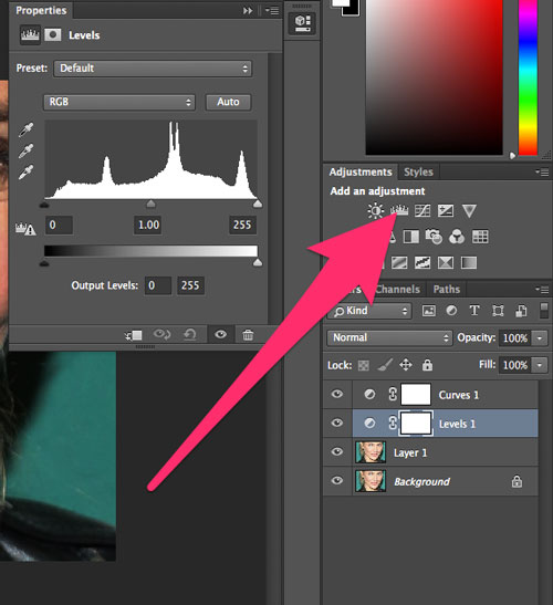 how to change the colour of an adjustment brush