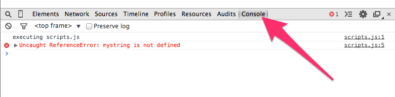 how to find js file in inspect element
