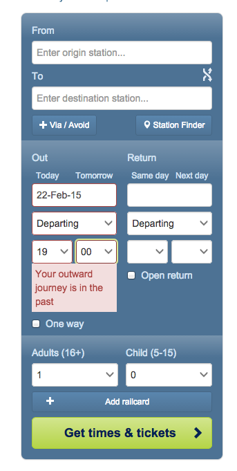 An example of good user experience provided by immediate helpful feedback if the wrong option is selected