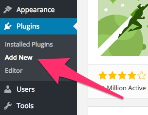 A screenshot showing the 'Add New Plugin' area in WordPress