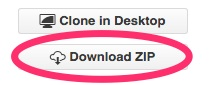 A screenshot showing the GitHub.com 'Download ZIP' button